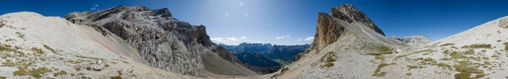 Abstieg vom Heiligkreuzkofel durch das Medesc Tal