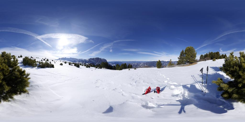 Snowshoeing on the Seiser Alm