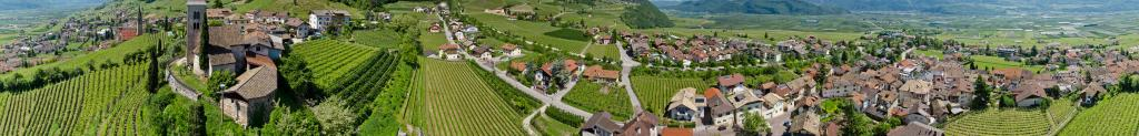 Aerial view of Tramin