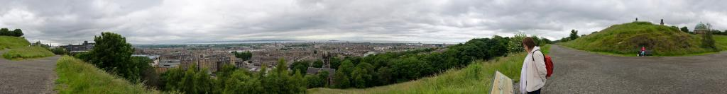 View from Calton Hill over Edinburgh