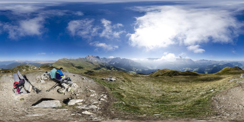 Vista sulle Dolomiti dal monte Piccio