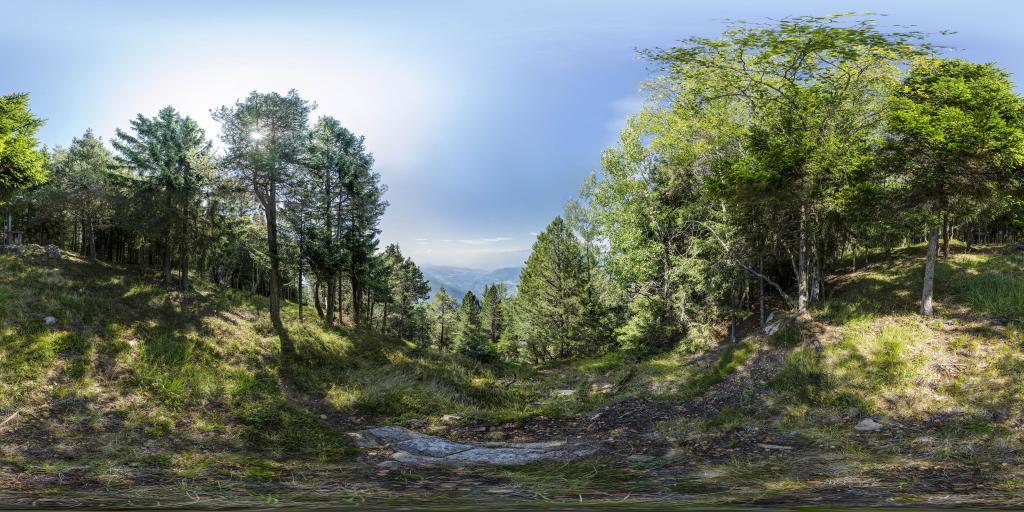 Ausblick vom Dosso di Segonzano ins Cembratal