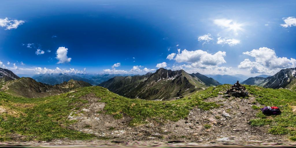 Photo 360° peak Pfandlspitz/peak Pegno