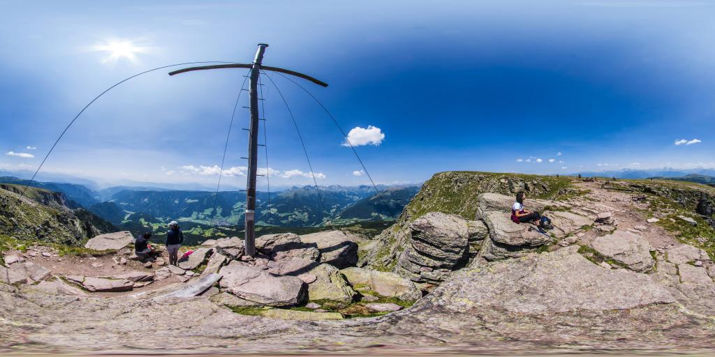 La croce sul monte Forcella Sarentina